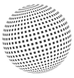 square dotted abstract sphere vector image