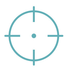 Target aim flat line icon isolated on white vector