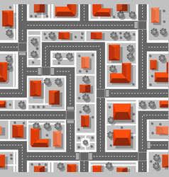 Top view plan city seamless repeating vector