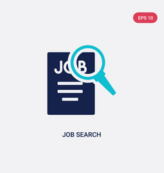 Two color job search icon from human resources vector