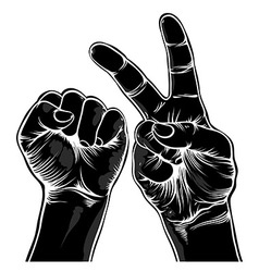 Two hands vector