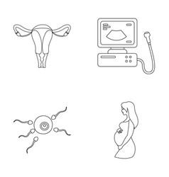 Uterus apparatus of ultrasound fertilization vector