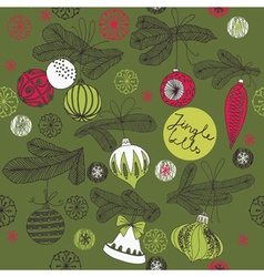 Vintage christmas art print vector