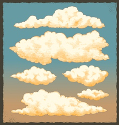 Vintage Cloud Background Design vector image