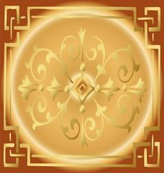 Vintage Golden Background Design with Border vector