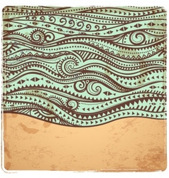 Vintage waves vector