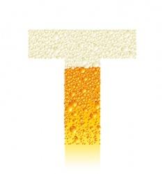 alphabet beer t vector image