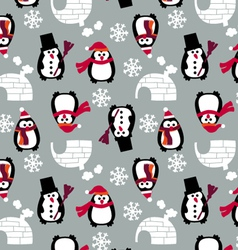 childish penguins vector image