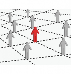 connection and networking vector image vector image