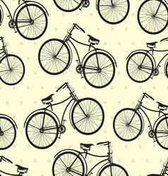 hipster bike patern resize vector image