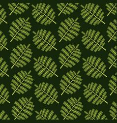 pattern color set decorative of tropical palm vector image