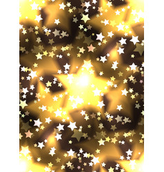 Seamless texture with a luxurious gold stars and vector