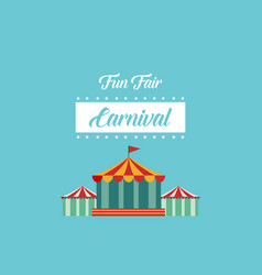 style background carnial funfair collection vector image vector image