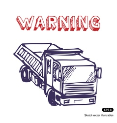 Truck is working vector image