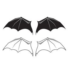 bat wngs vector image