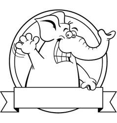 Cartoon elephant with a banner vector image