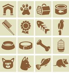 design elements for veterinary vector image
