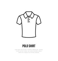 polo shirt icon clothing shop line logo flat vector image