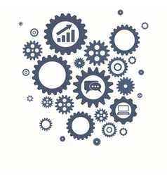 Teamwork graphic design GEars and cogs vector image