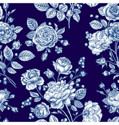Beautiful seamless rose pattern vector image vector image