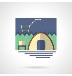 Campsite flat color icon vector image