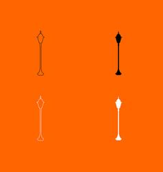 city street lantern icon vector image