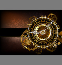 clock with gears vector image vector image