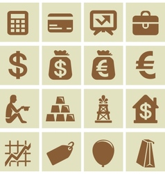design elements for finance and economy vector image vector image