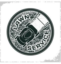 lawn service logo vector image