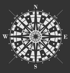 wind rose on black background vector image