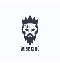 Wise King Abstract Logo Template Bearded vector image vector image