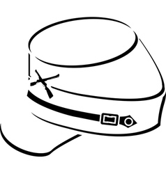 american civil war kepisketch vector image vector image