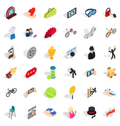 bomb icons set isometric style vector image vector image