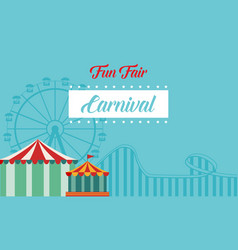 collection background carnival funfair style vector image vector image