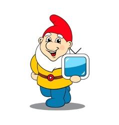 Dwarf TV sign vector image
