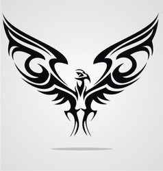 Eagle Bird Tattoo Design vector image vector image