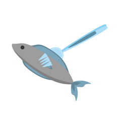 fish fork food picnic vector image