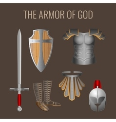 Long sword of spirit readiness shield armour vector