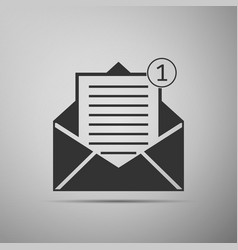 received message new email incoming message vector image vector image