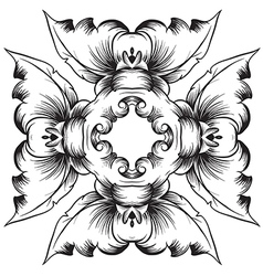 A black and white pattern vector image