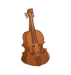 A view of violin vector