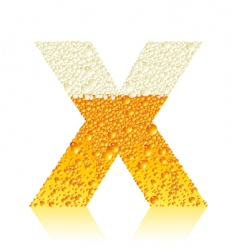 alphabet beer x vector image