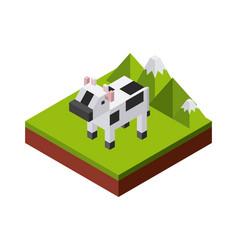 animal in pixels design vector image