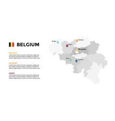 Belgium map infographic template slide vector