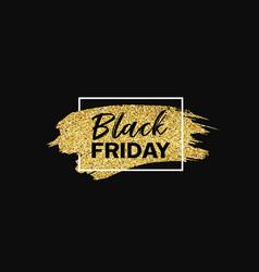 black friday sale gold foil brush storke concept vector image