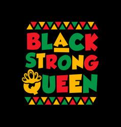 Black strong queen vector
