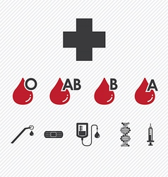Blood donation Group icons set vector image