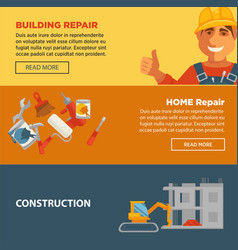 building and home repair construction web vector image