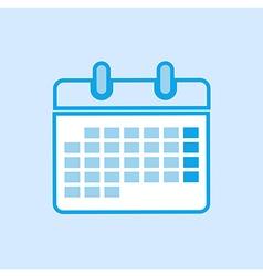 Calendar Icon Simple Blue vector