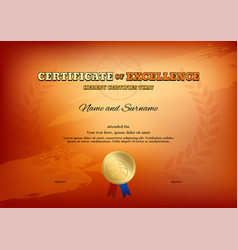certificate template in basketball sport theme vector image